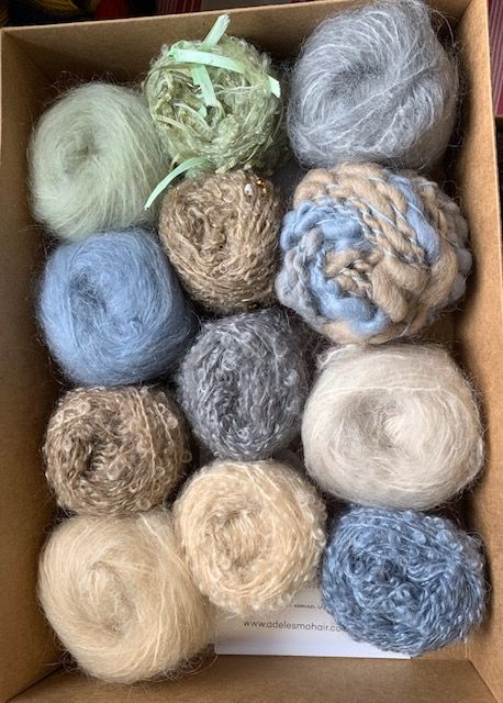 Adele's mohair giftbox - Pebble Beach