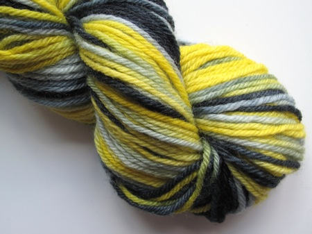Apples And Pears BFL DK - Bright yellow, grey and black