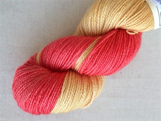 Apples & Pears high twist Superwash Merino - Coral and caramel