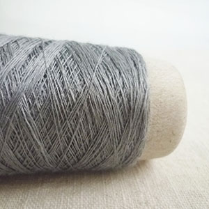 Habu Textiles 31/1 Linen with Stainless steel - Light Grey Col 8