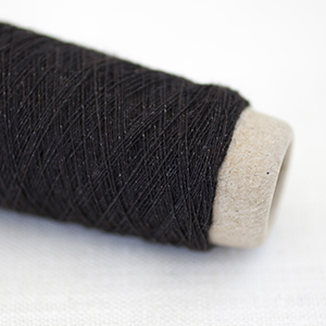 Habu wool stainless steel - Dark brown col 34