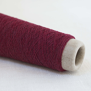 Habu wool stainless steel - Deep Red Col 40