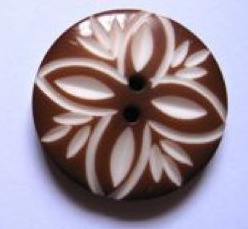 Handcarved flower button