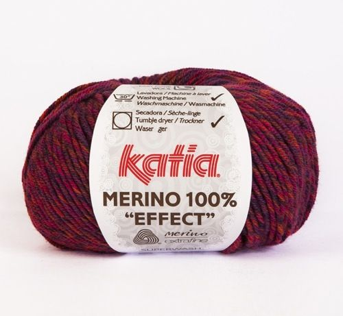 Katia 100% Merino effect - Blend of berry shades
