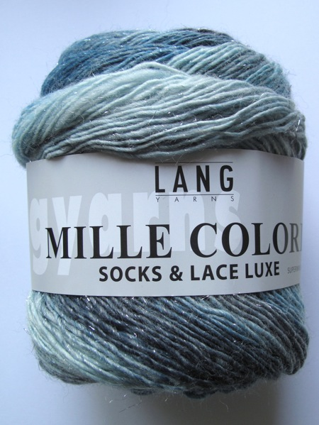 Lang Mille Colori Socks & Lace Luxe- Silver blues to dark aquas