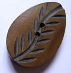 Leaf shaped button