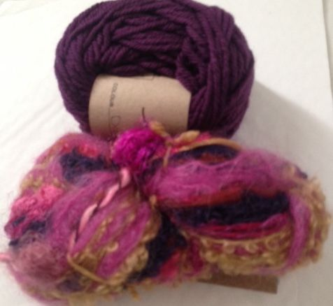 Magicball cowl - Moroccan with dark berry