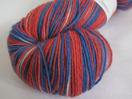Union Jack sock yarn